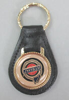 Vintage Gold Chrysler Wax Seal Black Leather Usa Keyring 1940 1941 1942 1943