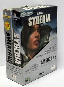 SYBERIA-AMERZONE-BENOIT-SOKAL-GIOCHI-PC-CD-USATI-BIG-BOX-COFANETTO-FR1-67586