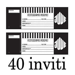 Detalles De Invitaciones De La Juventus Fiesta Cumpleaños 40 Para Navidad