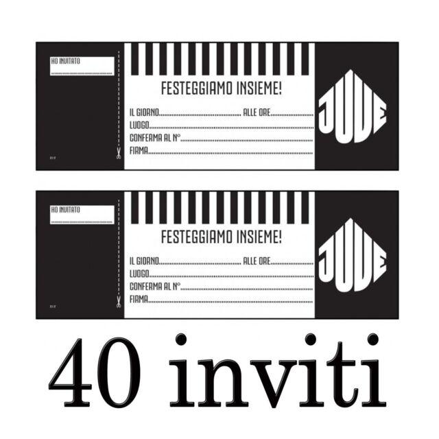 Invitaciones De La Juventus Fiesta Cumpleaños 40 Para Navidad