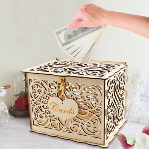 Wedding Card Post Wooden Box Collection Gift Card Box With Lock Wedding Favors