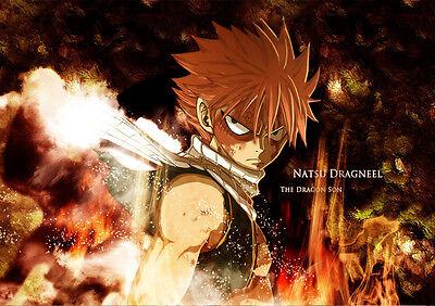 Imparcial Sticker Autocollant Poster A4 Manga Fairy Tail.natsu Dragnir Flamme Guilde F.t 3