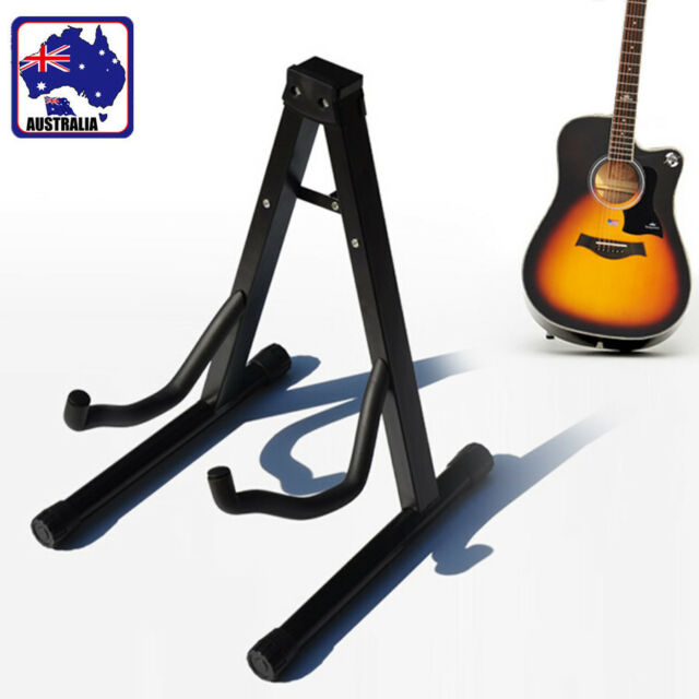 Guitar Stand Foldable Electric Acoustic Bass Gig Floor Rack Holder SMUKE1452