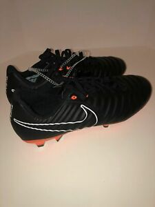 Nike-Tiempo-Legend-VII-7-Academy-FG-Size-10-5-Black-Org-Soccer-Cleats-AH7242-080