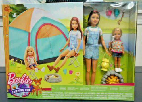 Barbie Acampamento divertido Skipper E Chelsea 2 Tenda De Boneca Nova