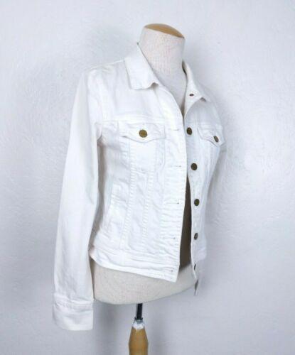 J.Crew Women's Classic White Denim Jacket Size Sma