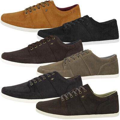 Boxfresh Spencer Waxed Suede Men Schuhe Herren Low Cut Freizeit Sneaker Schnürer