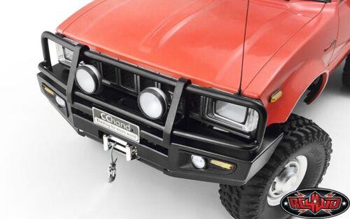 VVV-C0422 Black RC4WD Trifecta Front Bumper for Mojave II 2//4 Door Body Set