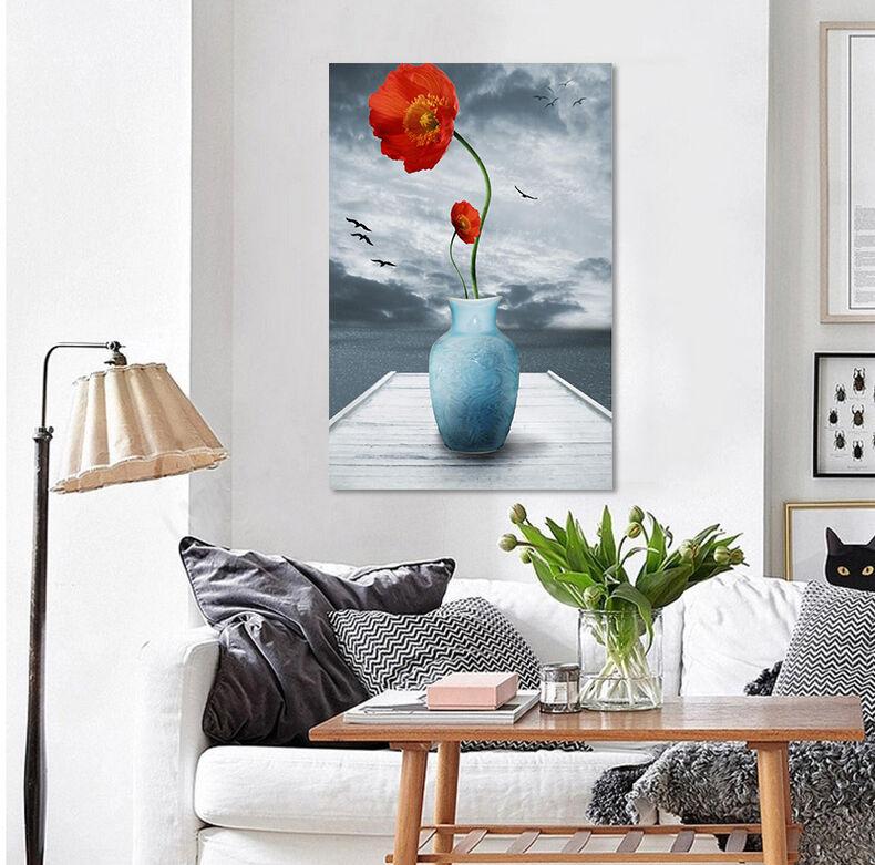 3D Rote Blaumen 35 Fototapeten Wandbild Fototapete Bild Tapete Familie AJSTORE DE