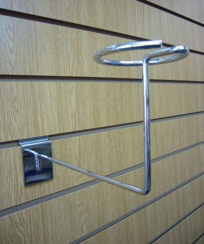 CHROME MILLINERY ARM FOR SLATWALL Pack of 10