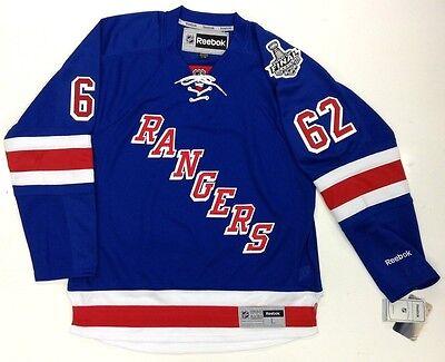 finest selection 09f30 0b288 CARL HAGELIN NEW YORK RANGERS 2014 STANLEY CUP REEBOK PREMIER JERSEY | eBay