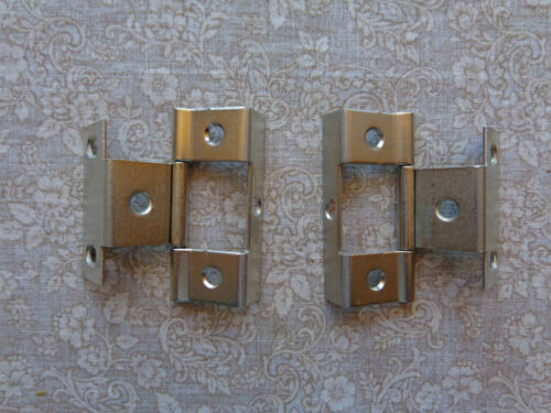"""Door Hinges New Brushed Nickel Non-Mortise Partial Wrap 3//4/"""" 20 10 Pair"""