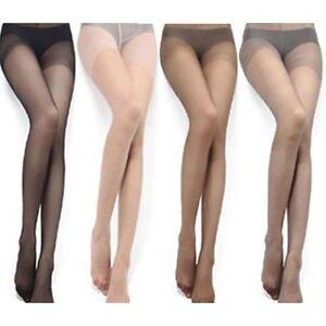 Femme-Sexy-Bas-Transparent-Collants-Long-elasticite-Noir-Chair-Cafe-Gris