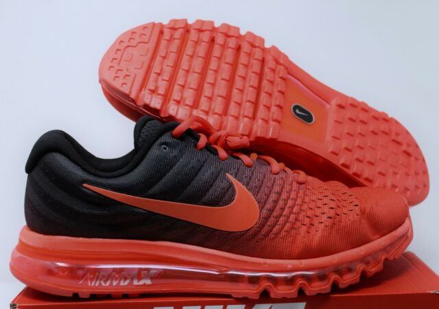 Nike Air Max 2017 Crimson Black Mens US Size 10 UK 9 EUR 44
