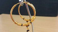 22k gold plated hoop Earrings Indian Asian fashion costume  jewellery u2