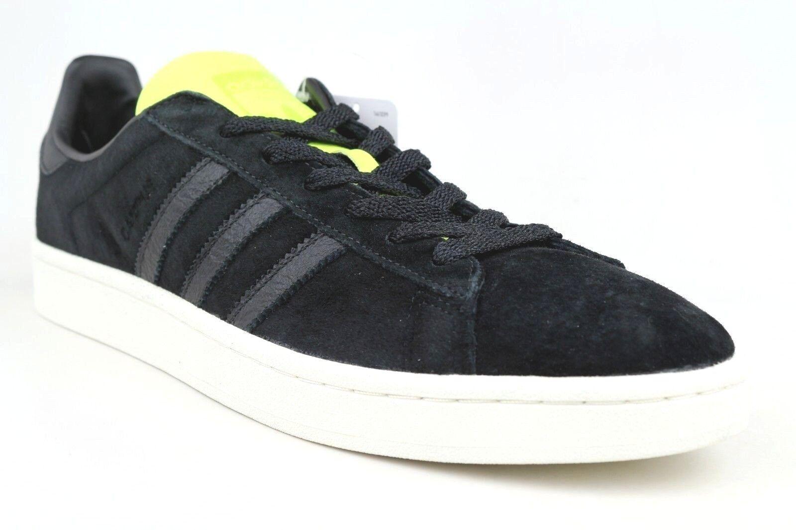 Men's Adidas Originals Campus Sneakers Black/Neon Yellow Shoes Size 9 BB0082