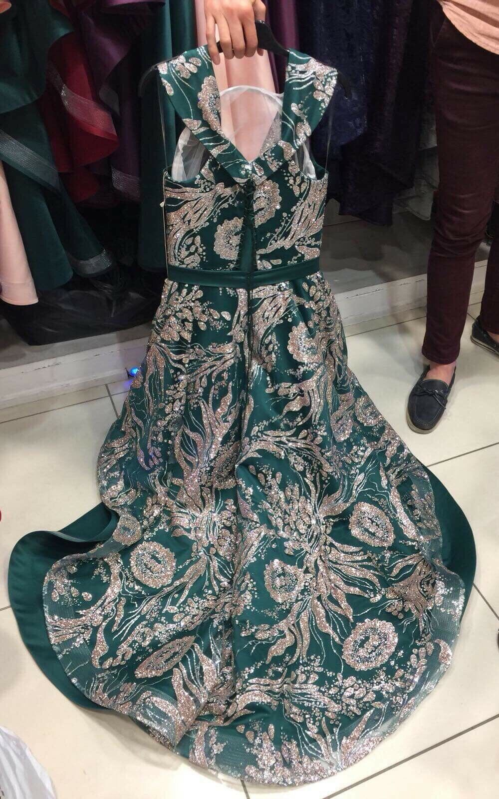 Bor Mariage accasinal Vert mousseux Robe