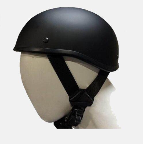 Beanie Novelty Flat Black Motorcycle Half Helmet Cruisers Biker S,M,L,XL,XXL