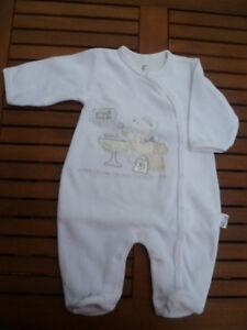 Gr 6 Mon.,62 Lange Ärmel Anzug Overall Nicki HeißEr Verkauf 50-70% Rabatt Weiß Konstruktiv Baby Strampler Taufe