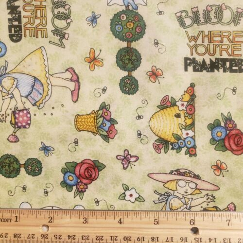 Quilt Fabric Mary Engelbreit VIP Cranston 2001 Bloom Where You Are Planted BTHY