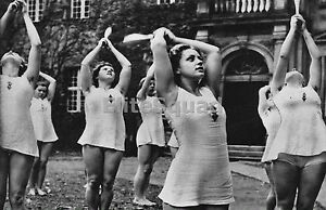 Ww2 photo young german girls perform calisthenics part of the mind image is loading ww2 photo young german girls perform calisthenics part voltagebd Image collections