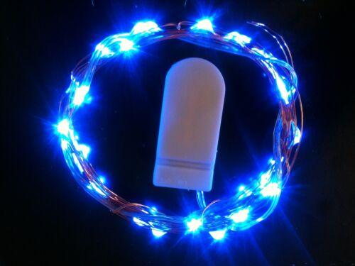 30 DEL Bleu CR2032 Batterie CW String Lights 3 M-Uk Vendeur//Stock
