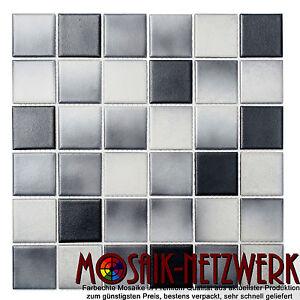 Image Is Loading Mosaic Tile Ceramic Grey Anthracite  Rutschemmend Bathroom Toilet