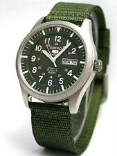Seiko 5 Military SNZG09 K1 Automatic Green Dial Nylon Strap Watch COD Shipping