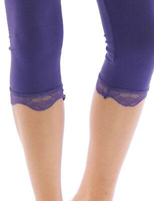 Capri 3/4 Leggings Spitze Baumwolle Blickdicht Damen Hose Wäsche Leggins Gut Verkaufen Auf Der Ganzen Welt