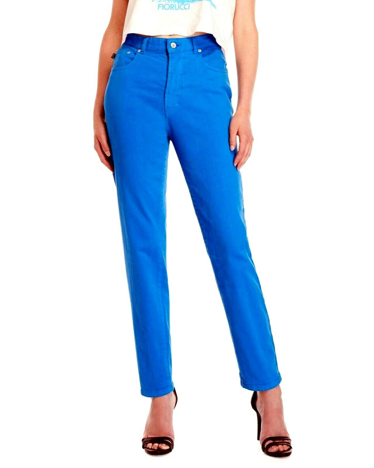 NEW FIORUCCI Jeans Electric bluee Tara Classic Tapered SIZE 24 x 29 ITALY NWT