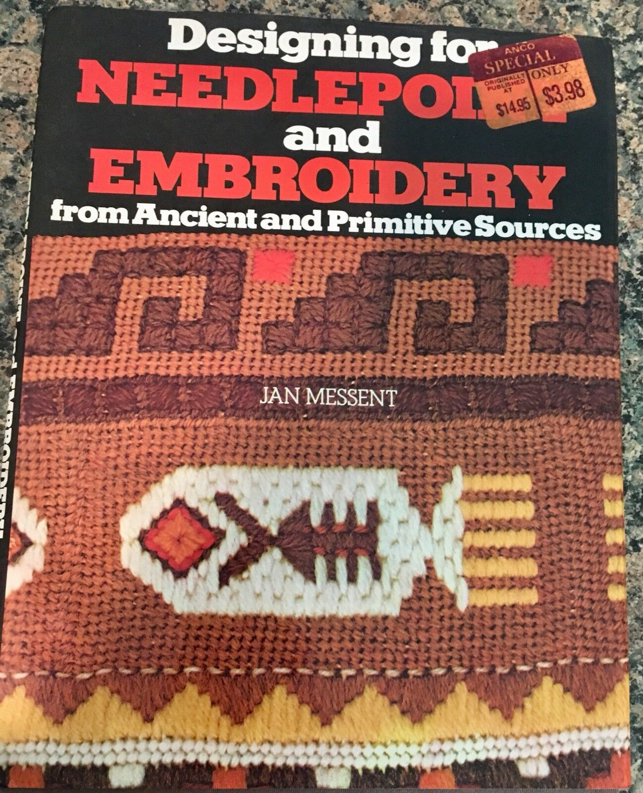 Designing for Needlepoint and Embroidery from Ancient and Primitive Sources  by Jan Messent (1976, Hardcover) | eBay