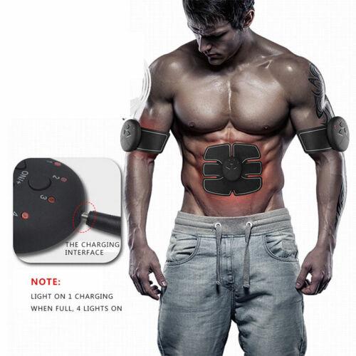 Smart EMS Stimulator Bauchmuskeltrainer ABS Trainingsgerät Muskel Exerciser NEU