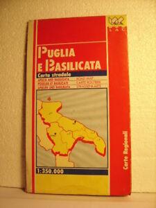 Cartina Stradale Basilicata Puglia.Dettagli Su Puglia E Basilicata Carta Stradale Scala 1 350 000