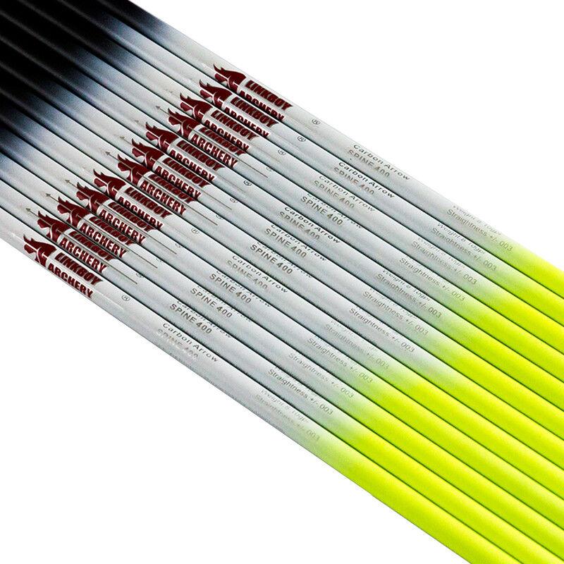 Archery 32'' SP300 340 400 500 600 ID6.2 Carbon Arrow Shafts Bow Hunting 1DOZEN