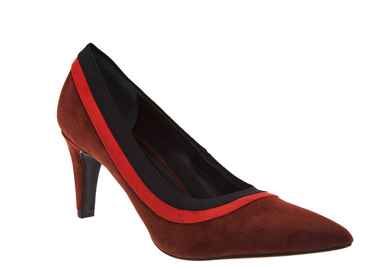 Lori goldstein Collection Pumps with Contrast Trim Detail Redwood Women's 10 New