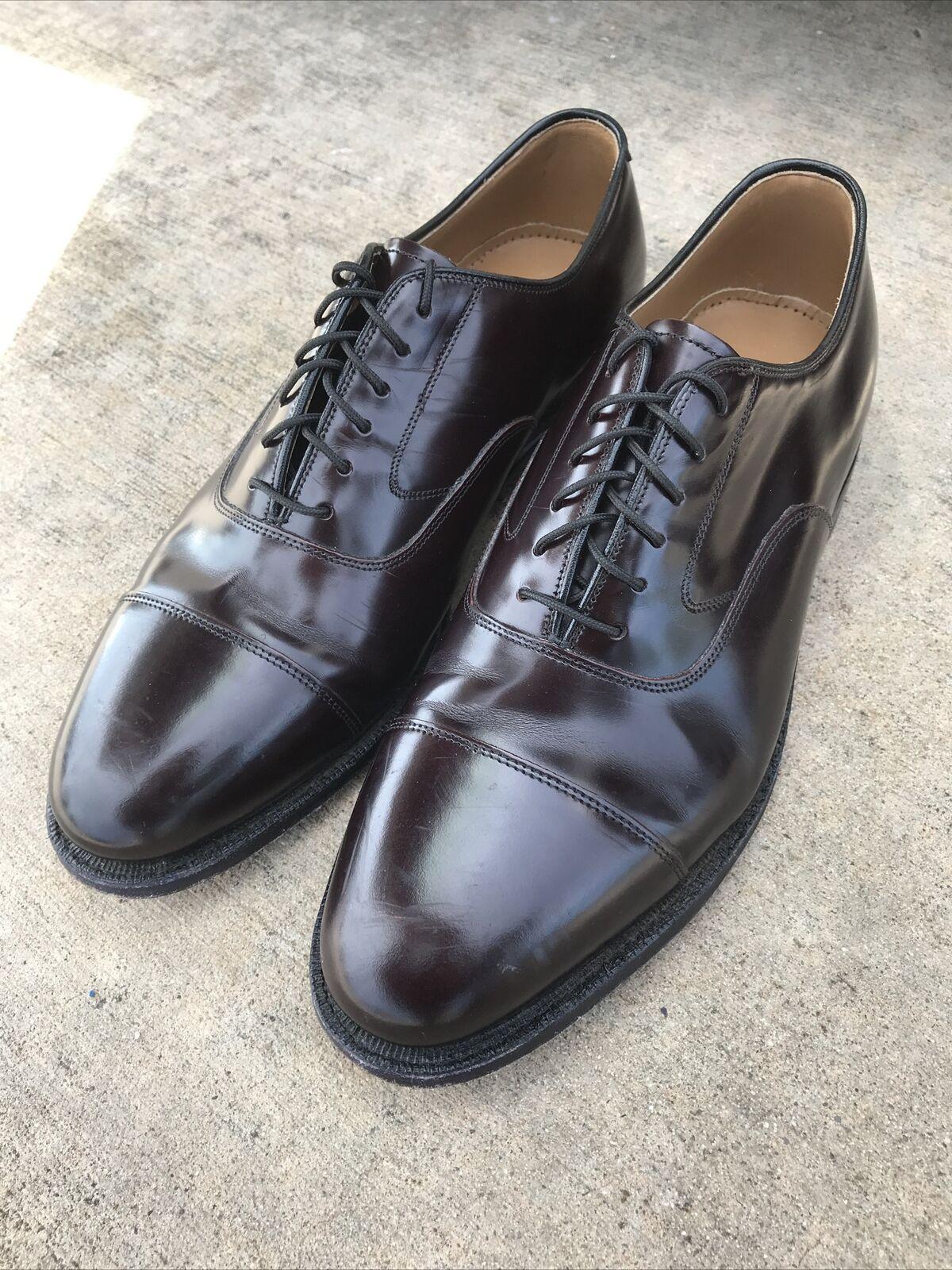 Johnston Murphy Mens Cordovan Leather Cap-Toe Ox Dress Shoe US 9 D