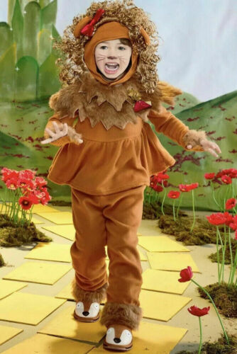 NEW Chasing Fireflies Cowardly Courageous Lion Of Oz Kid's Costume Sz 3T-4T