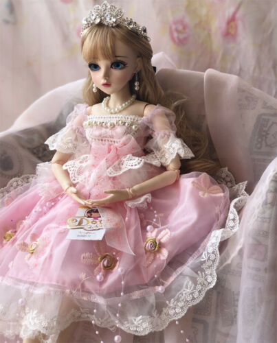 BJD Doll 1//3 Ball Jointed Girl With Clothes Wig Makeup Eyes Shoes Full Set Toys