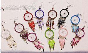 - Indianer - Ohrringe Traumfänger-ohrringe Verschiedene Farben -