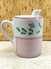 Caleca Pottery Giardino Olive Oil Dispenser Italy Pink Floral Mary Stopper Spout
