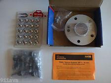 H & R PORSCHE 996 997 991 WHEEL SPACER 1) SET 15 mm SILVER 100 % GERMAN 30957161