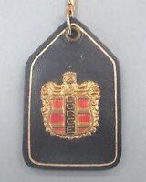 Dodge Crest Navy Leather Key Ring Dodge Vintage Keyring 1938 - 1955