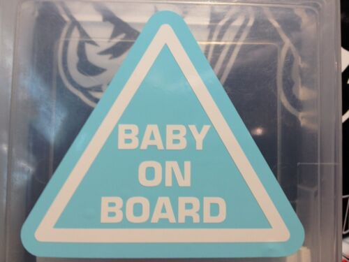 Baby On Board Vinyl Decal Baby Blue Size 90mm By 80 Mm