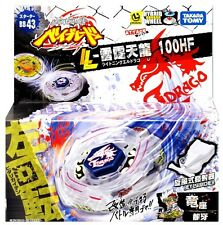 JAPAN TAKARA TOMY BEYBLADE METAL FUSION BB-43 LIGHTNING L DRAGO 100HF+LAUNCHER