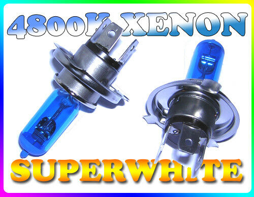 H4 55//60W 4800K Super White Xenon Headlight Bulbs For Citroen Ax Bx Berlingo