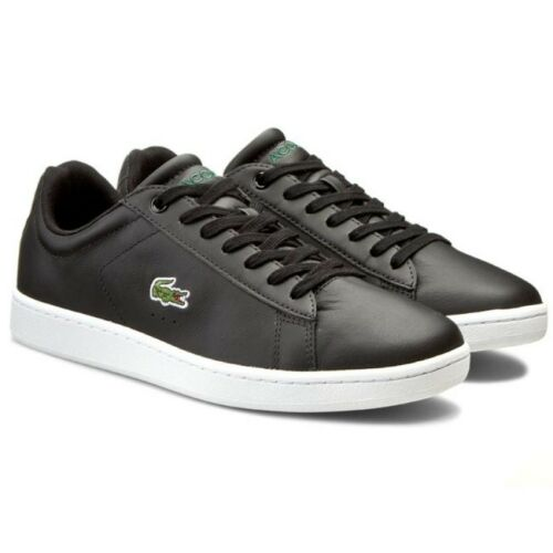 Lacoste Men/'s Carnaby Evo LCR SPM Trainers Leather Shoes 7-31SPM0095024 Black