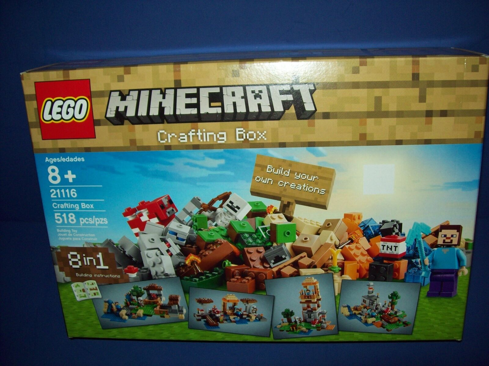 Lego 21116 Minecraft Crafting Box Accessorio Kit con / Steve Mini Figure