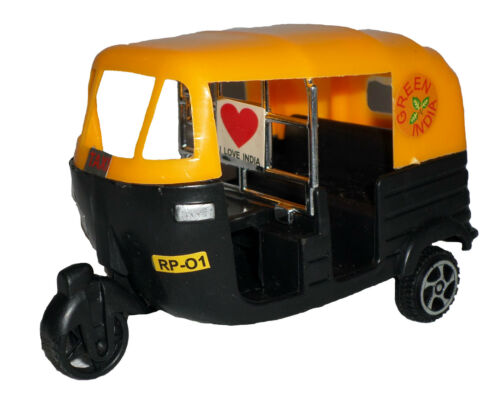 Auto Rickshaw TUK TUK India Cricket transport Cars Toy GREEN BLACK TAXI Cricket