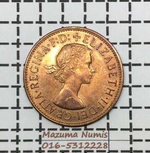 Mazuma *FC03 Great Britain Elizabeth 1967 One Penny UNC RB