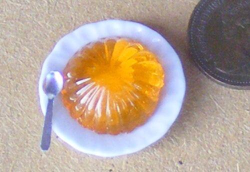 Échelle 1:12 orange Jelly sur céramique plaque tumdee Dolls House Food Accessoire OJ2